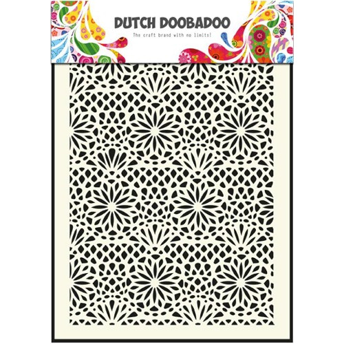 1 ST (1 ST) Dutch Mask Art stencil flower - A5