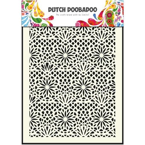 1 ST (1 ST) Dutch Mask Art stencil flower - A5
