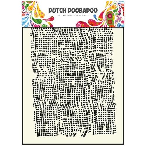 1 ST (1 ST) Dutch Mask Art stencil burlap - A5