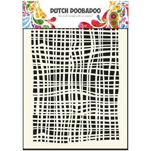 1 ST (1 ST) Dutch Mask Art stencil fabric - A5