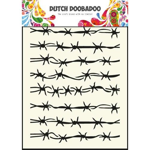 1 ST (1 ST) Dutch Mask Art stencil barbed wire - A5