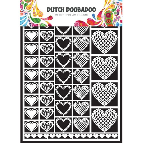 1 ST (1 ST) Dutch Paper Art hearts - A5