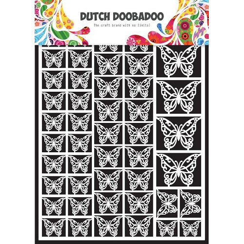1 ST (1 VL) Dutch Paper Art butterflies - A5