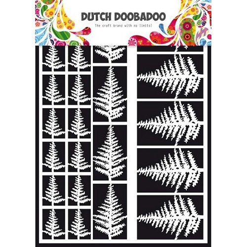 Dutch Doobadoo - Laserfiguren A5 - wit - varens