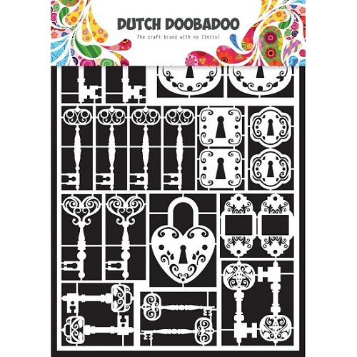 Dutch Doobadoo - Laserfiguren A5 - wit - keys
