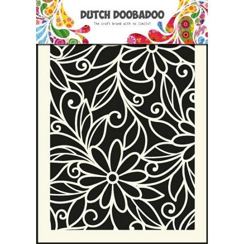 Dutch Doobadoo - Mask Art - Flower swirl