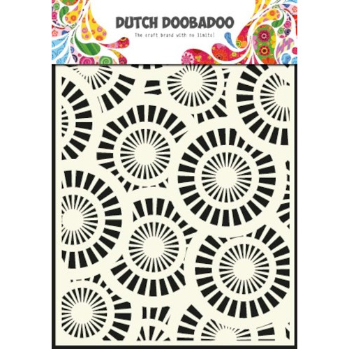 Dutch Mask Art stencil Circles - A5