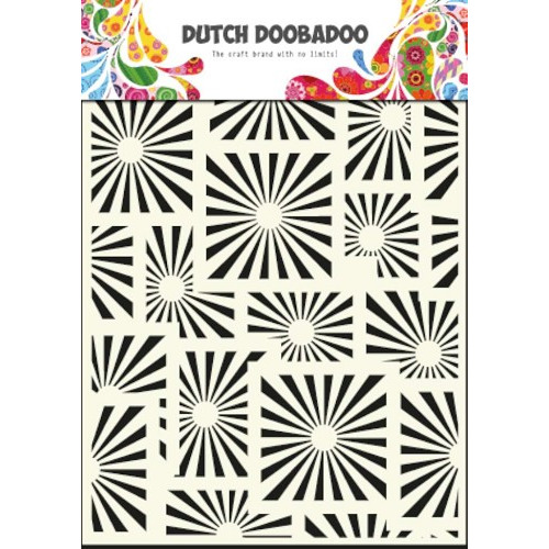 Dutch Mask Art stencil Squares - A5