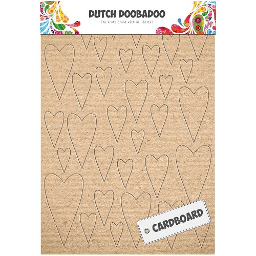 Dutch Doobadoo Dutch Cardboard art harten A5