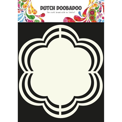 Dutch Doobadoo  Dutch Shape Art frames flower 16x16cm