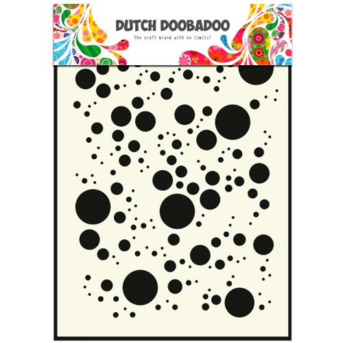Dutch Doobadoo Dutch Mask Art stencil Bubbles A5
