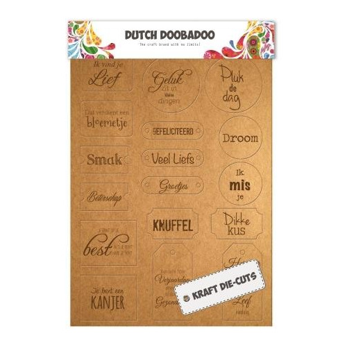 Dutch Doobadoo Dutch Label Art Every day tekst labels (NL) A4