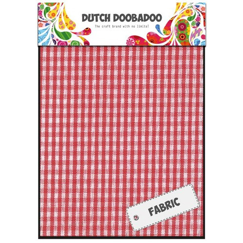 Dutch Doobadoo Dutch Textile - Red Check (2 vel) 15x21 cm