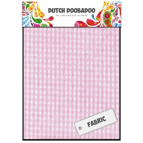 Dutch Doobadoo Dutch Textile - Pink Check (2 vel) 15x21 cm