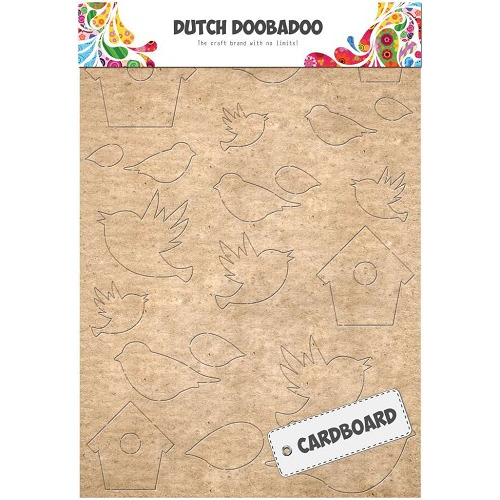 Dutch Doobadoo Dutch Cardboard Art vogels A5