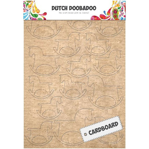 Dutch Doobadoo Dutch Cardboard Art hobbelpaard A5