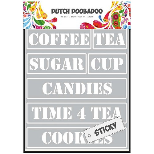 Dutch Doobadoo Dutch Sticky Stencil - Tea Time A5