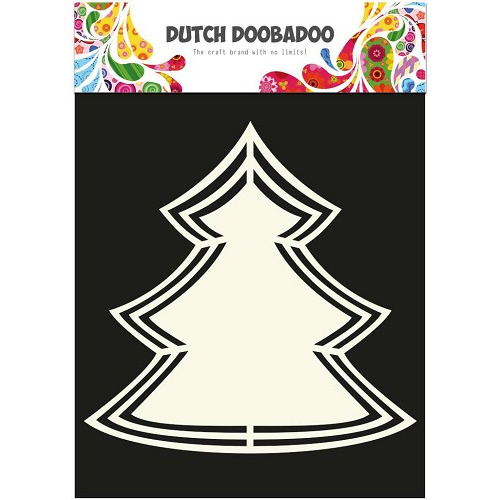 Dutch Doobadoo - Dutch Shape Art frames Kerstboom A4