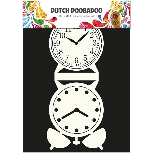 Dutch Doobadoo - Dutch Card Art Clock A4