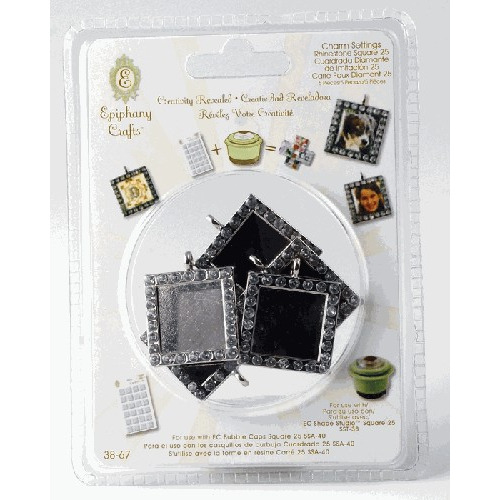 Epiphany Crafts - Shape Studio - Rhinestone Charm Settings - Squ