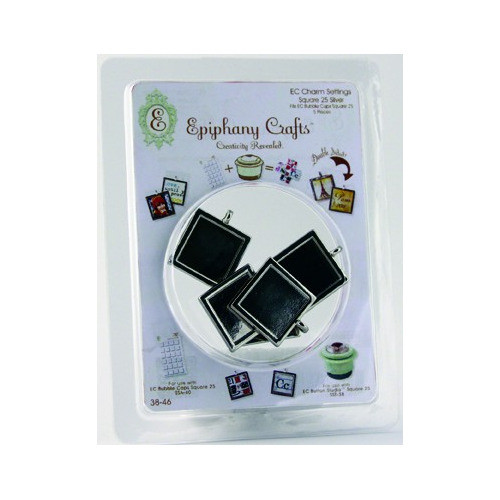 Epiphany Crafts - Jewelry - Metal Charms -  5 St Square 25