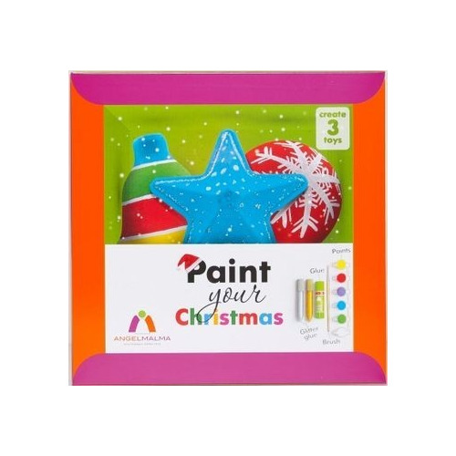 Set paint your Kerstmis compleet