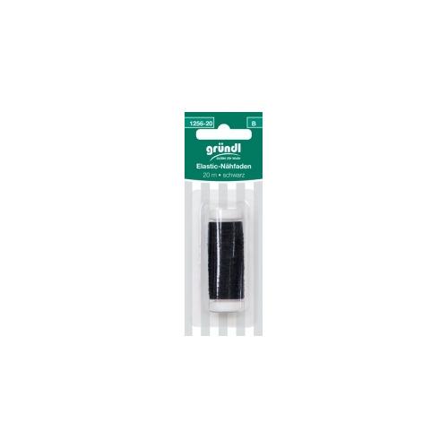 1256-20 (B) Rimpelelastiek 20mtr zwart