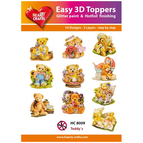 Easy 3D Designs pakket Teddy's - HC 8009
