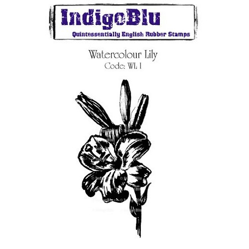 IndigoBlu Watercolour Lily Mounted A6 Rubber Stamp (WL I)