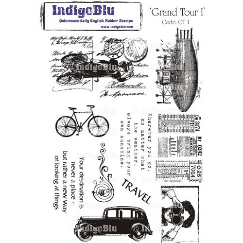 IndigoBlu Grand Tour I Mounted A5 Rubber Stamp (GT I Mtd