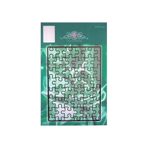Lin & Lene stencil achtergrond puzzelstukjes #OKT