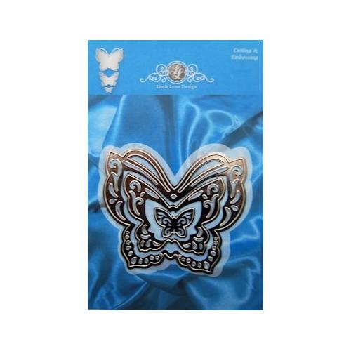 Lin & Lene stencil set (3) vlinder #APR13
