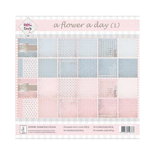 Rosa Dotje A Flower Day 1 6x6 Inch Paper Pack