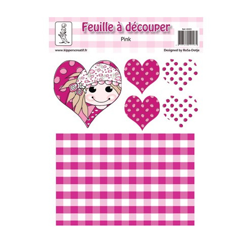 8303 - Knipvel A4, 240gr. Pink 4, hart