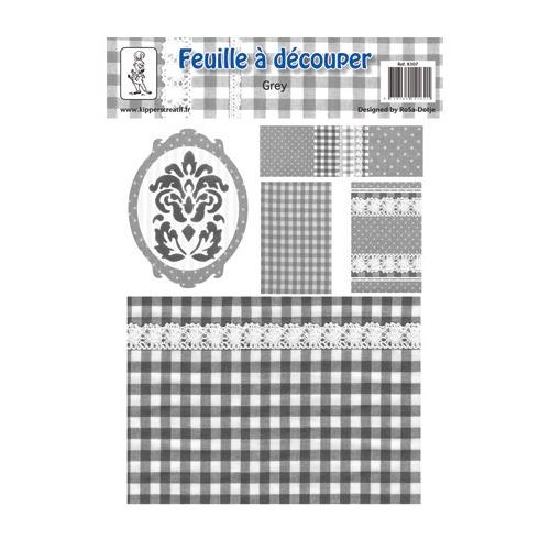 8307 - Knipvel A4, 240gr. Grey 7, barroque, rechthoel, vierkant