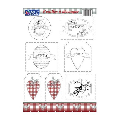 8315 - Knipvel A4, 240gr. Kerst, harten, etiketten