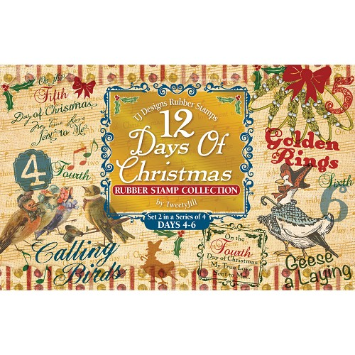 Rubber Stamp Set-12 Days Of Christmas Set 2 Days 4-6