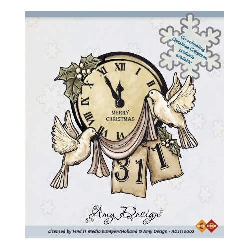 Amy Design - Clear Stamp - Clock with doves