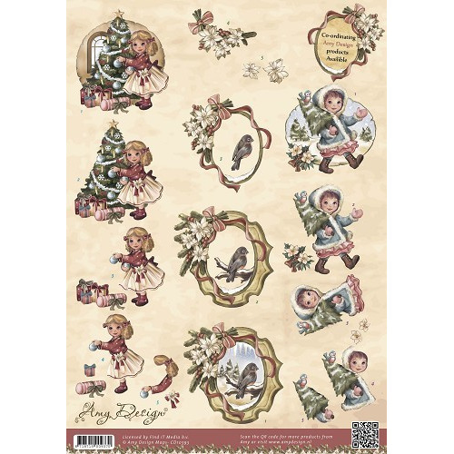 3D Knipvel - Amy Design - Vintage Christmas Collection - Kerstme