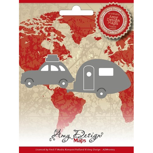 Amy Design - Maps - Car With Caravan