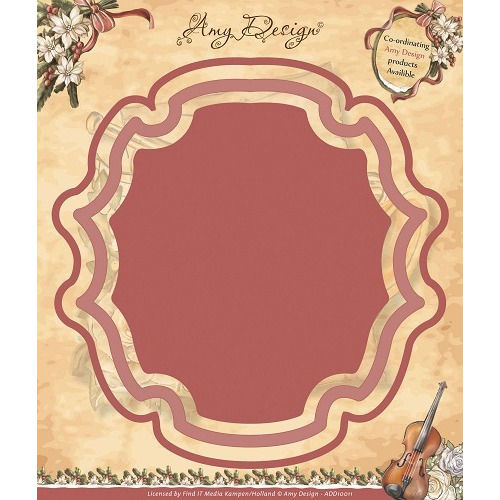 Die - Amy Design - Vintage Christmas Collection Die - Plaque Fra