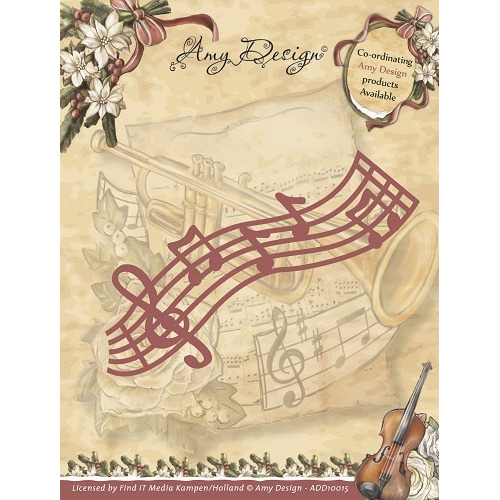 Die - Amy Design - Vintage Christmas Collection Die - Musical St