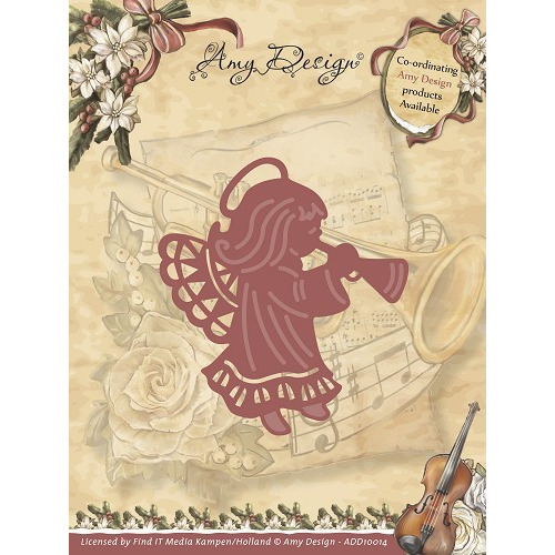 Die - Amy Design - Vintage Christmas Collection Die - Angel