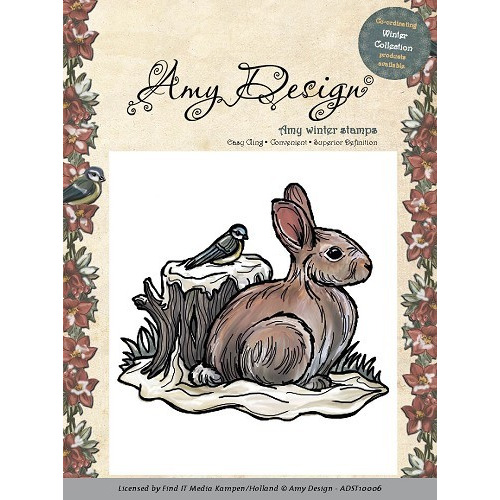 Amy Design - Cling Stamp - Snow Rabbit