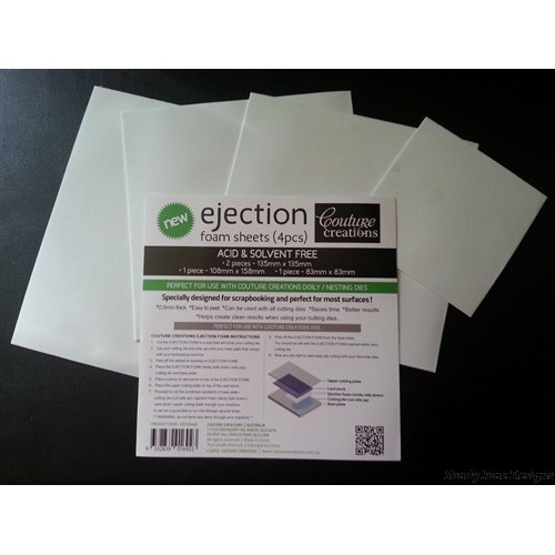 Couture Creations Ejection Foam Sheets (4pcs) Item # CO723440