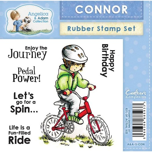 Crafters Companion Angelica and Adam Rubber Stamp - Connor