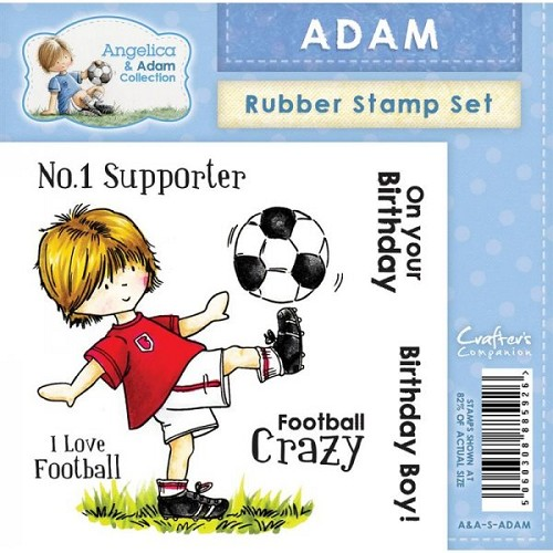 Crafters Companion Angelica and Adam Rubber Stamp - Adam