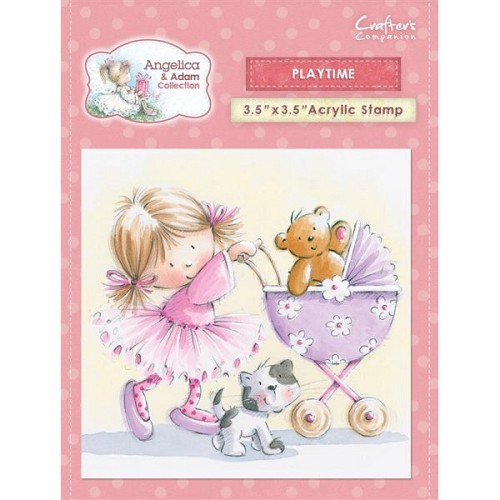 Crafters Companion Angelica and Adam Acrylic Stamp - Playtime