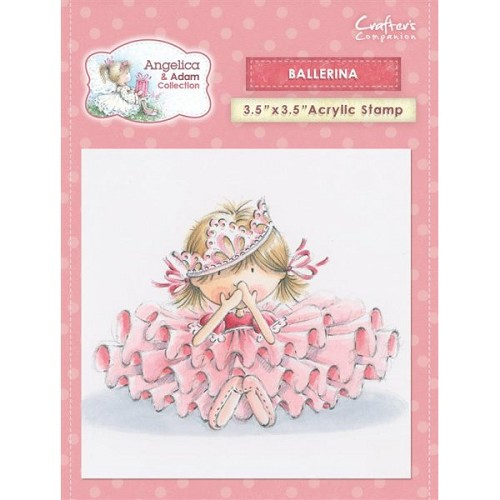 Crafters Companion Angelica and Adam Acrylic Stamp - Ballerina