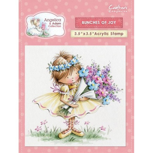 Crafters Companion Angelica and Adam Acrylic Stamp - Bunches of